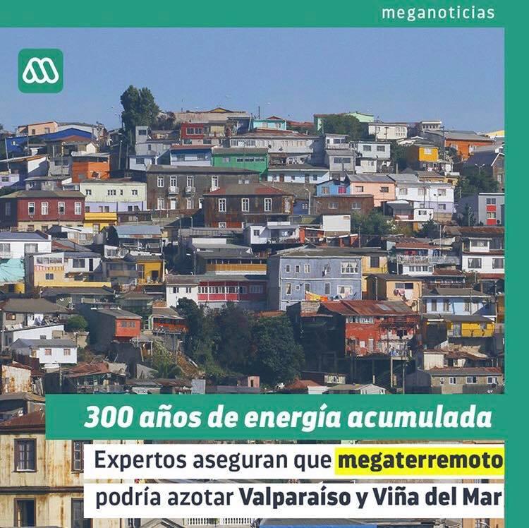 Expertos aseguran que megaterremoto podría azotar a Valparaíso y Viña del Mar