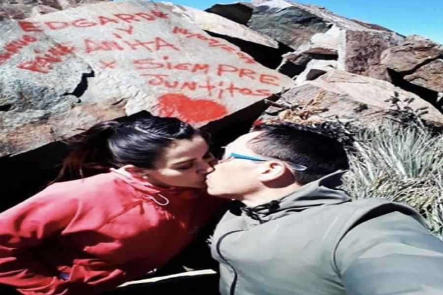 «Edgardo y Anita por siempre»: anuncian investigación por rayados en cumbre de Parque La Campana