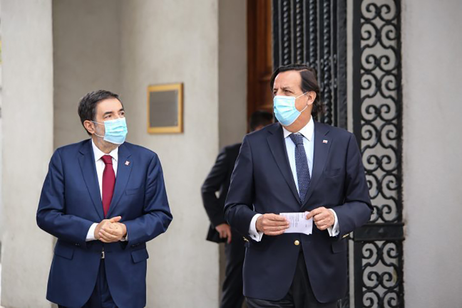 """Ministro Pérez por plebiscito: """"Vamos a facilitar todos los elementos y circunstancias para que este evento electoral se realice de la manera más tranquila"""""""