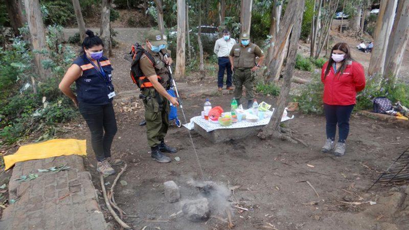 Autoridades llaman a la prevención de incendios forestales en el tranque La Luz