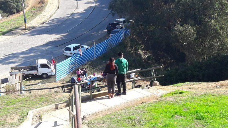 Nueva toma genera preocupación a vecinos de Miraflores Alto, en Viña del Mar