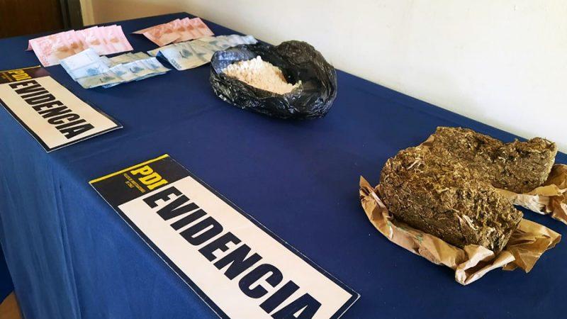 PDI detiene a sujetos que comercializaban droga en sector sur de Los Andes